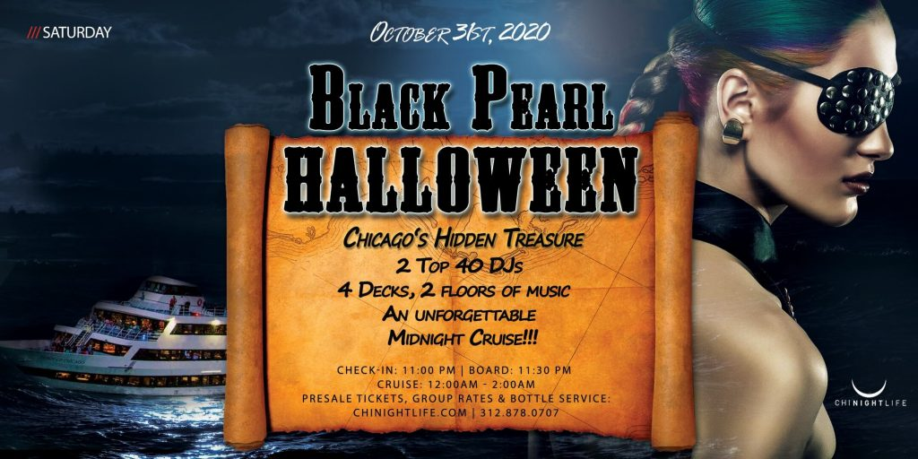 Chicago Halloween Black Pearl - Pier Pressure Yacht Party