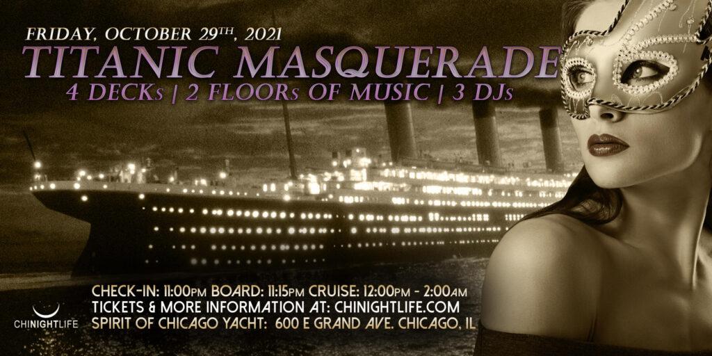 Titanic Masquerade Chicago Halloween 2021 Yacht Party